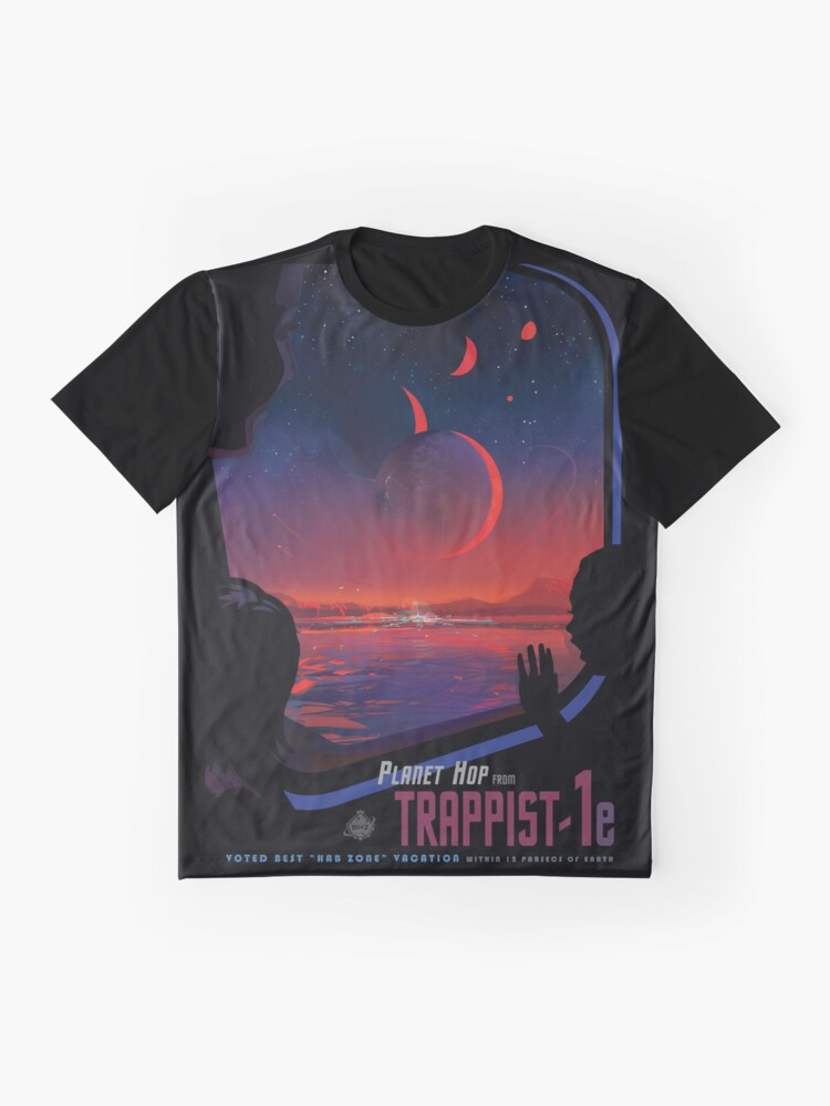 Alternate view of Trappist 1 -- Space Travel Poster Graphic T-Shirt