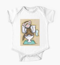 Potty Painting - Thinking One Piece - Short Sleeve