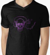 Skull rocker Mens V-Neck T-Shirt