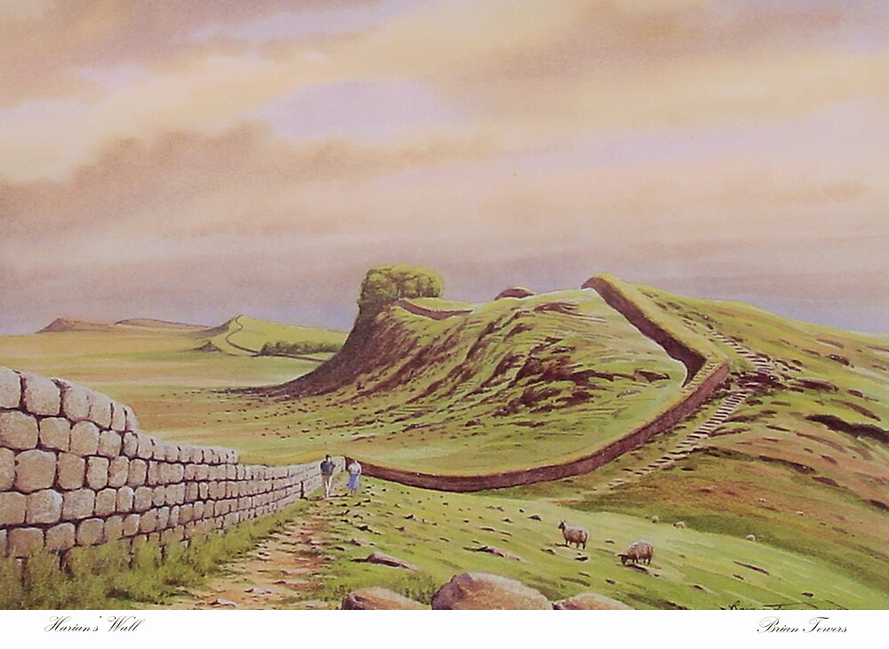 Hadrian's Wall Northumberland by Brian Towers