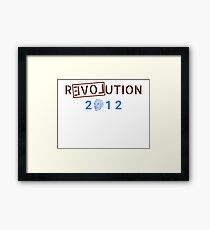 Ron Paul Revolution 2012 Campaign Framed Print
