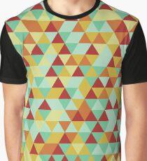 Retro Triangle Vector Collage Graphic T-Shirt