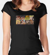 Street Fighter 2 - The Original World Warriors - Dirty Women's Fitted Scoop T-Shirt