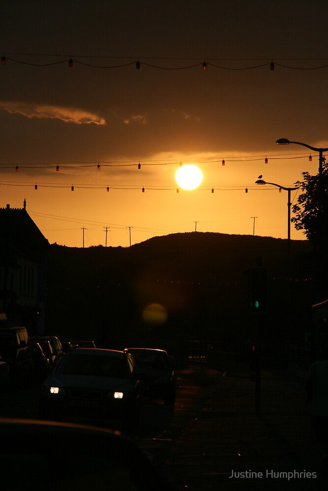 Sunset over Hayle by Justine Humphries