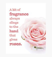The Fragrance of Roses Photographic Print