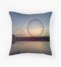 Bubble Above the Water Throw Pillow