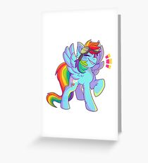 My Little Pony Rainbow Dash Greeting Card