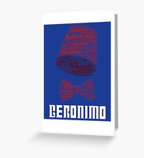 Geronimo - 11th Doctor's Quote - Doctor Who Greeting Card