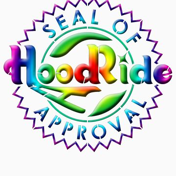 HOODRIDE Seal Of Approval 60s style by thatstickerguy