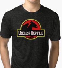 Toothless - Useless Reptile Tri-blend T-Shirt
