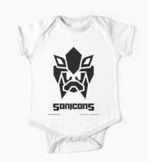 Sonicons! (Black on Blue) Kids Clothes