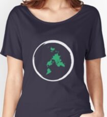 Flat Earth Map Women's Relaxed Fit T-Shirt