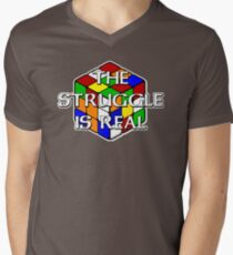 The Struggle is Real! Men's V-Neck T-Shirt