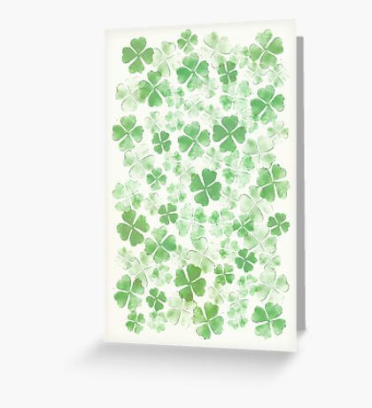 Clover All Over Greeting Card
