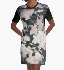 Jigsaws of double exposure Graphic T-Shirt Dress