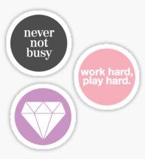 boss lady (set of 3 stickers) Sticker