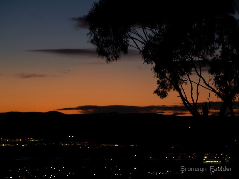 sunrise over a nations capital by Bronwyn  Faulder