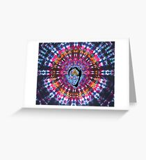 Nicolas Cage Third Eye - Tie Dye Shambhala II Greeting Card