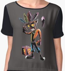 crash bandicoot Women's Chiffon Top