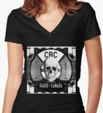 Video Killed The Radio Star Women's Fitted V-Neck T-Shirt