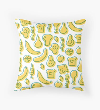 All the foods! Throw Pillow