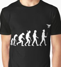 Evolution of Man - Drone Pilot Edition White Graphic T-Shirt