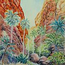 Mini Palms, Purnululu, Kimberley, Australia by Virginia  Coghill