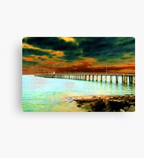 The Old Lorne Pier Canvas Print