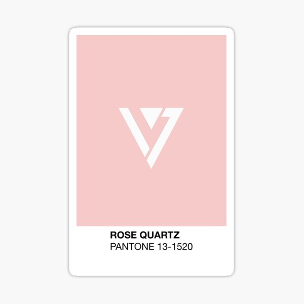 DIX-SEPT Symbole de Quartz Rose Sticker