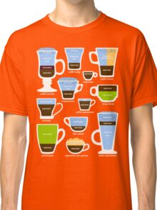 Espresso Coffee Drinks Guide Classic T-Shirt