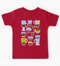Espresso Coffee Drinks Guide Kids Tee