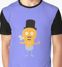 light bulb groom with flowers R4686 Graphic T-Shirt