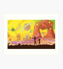 Rick and Morty Art Print