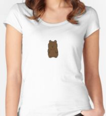 Adorable Bear - Cute animal merchandise Women's Fitted Scoop T-Shirt