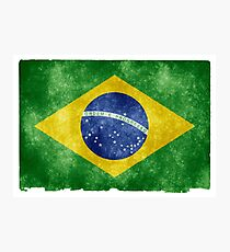Brazil flag Photographic Print