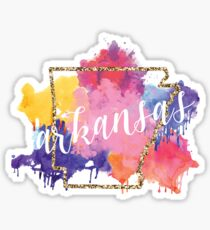 Watercolor Arkansas Sticker