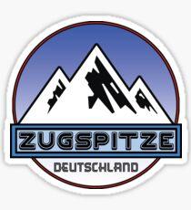 Ski ZUGSPITZE Deutschland Bayern Skiing Ski Mountain Art Germany Sticker