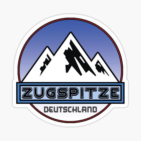 Ski ZUGSPITZE Deutschland Bayern Skifahren Ski Mountain Art Deutschland Sticker