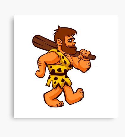 funny caveman Canvas Print