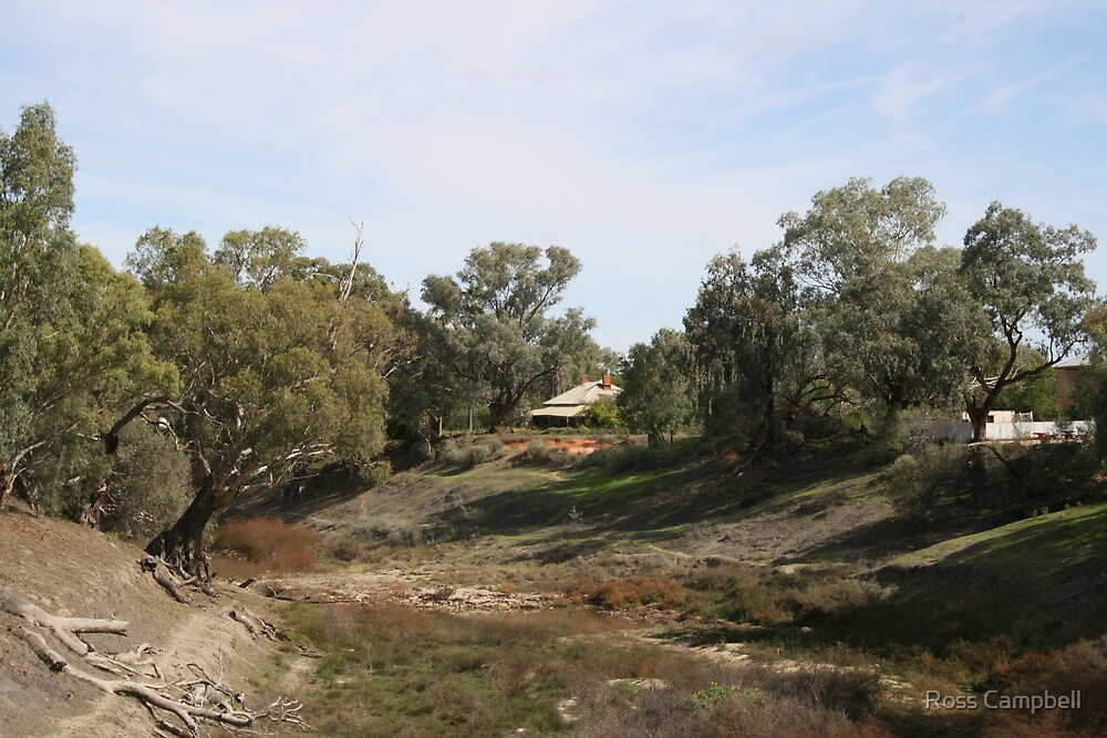 Darling River at Wilcannia, zoomed in. by Ross Campbell