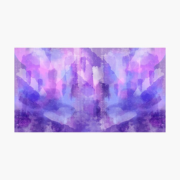 Purple Amethyst Photographic Print