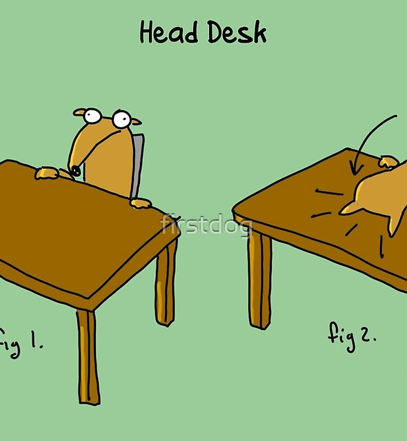 Head Desk by firstdog