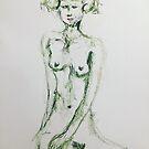Green Nude Gal by Julie Stewart Rose
