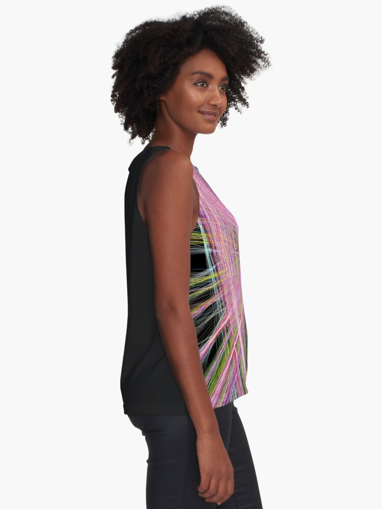 Alternate view of Linify Pink butterfly Sleeveless Top