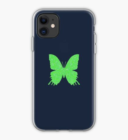 #DeepDream Lime Green color Butterfly iPhone Case