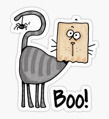 Boo ! kitty Sticker