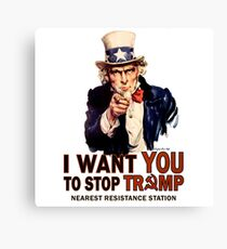 I Want You To Stop Trump Canvas Print