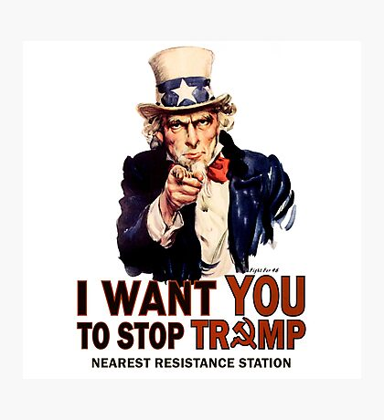 I Want You To Stop Trump Photographic Print