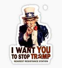 I Want You To Stop Trump Sticker