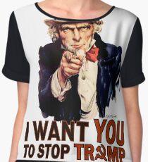 I Want You To Stop Trump Chiffon Top